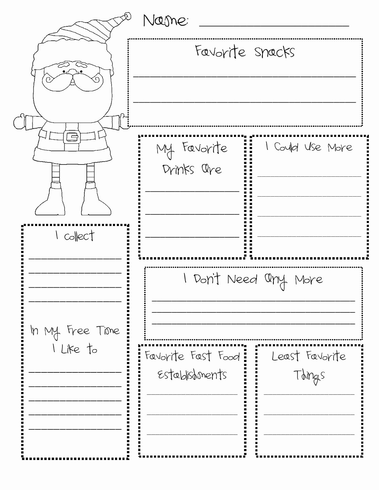 Secret Santa Template form New What S the Buzz In First