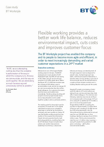 Section 125 Plan Documents Template New Bt Workstyle Group Realising the Benefits Of Flexible