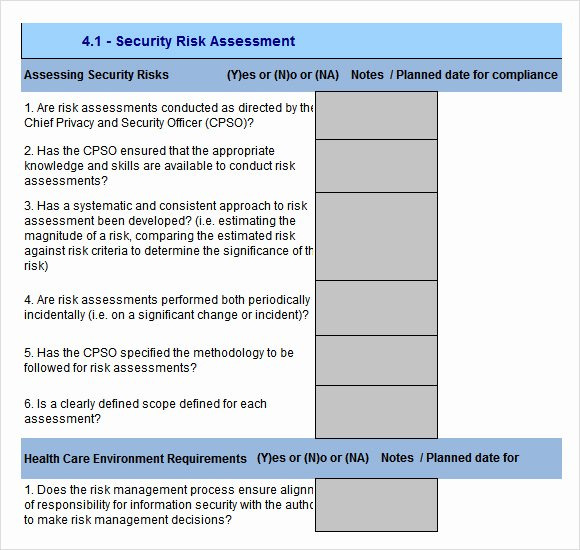 Security assessment Plan Template Lovely 10 Sample Security Risk assessment Templates Pdf Word