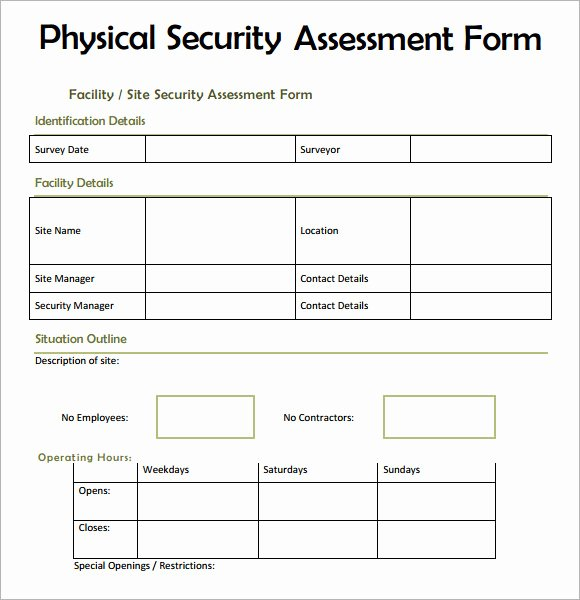 Security assessment Plan Template New 7 Security assessment Samples Examples Templates