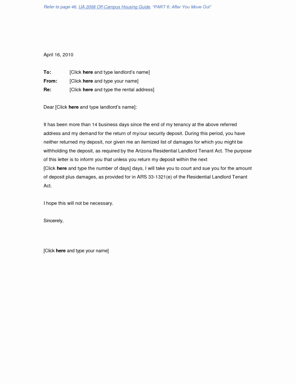 Security Deposit Letter format Awesome Request Letter format Refund County Bar Foundation