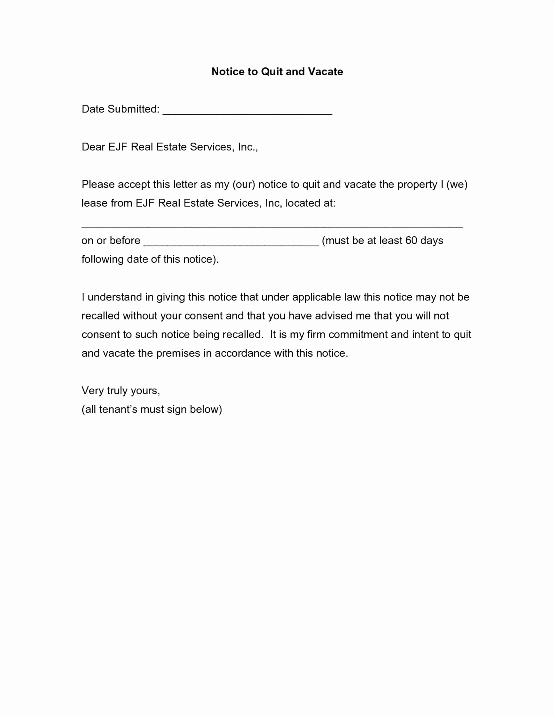 Security Deposit Letter format New Security Deposit Refund Letter Template Collection