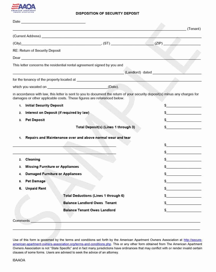 Security Deposit Letter format Unique Disposition Of Security Deposit Download form Instantly