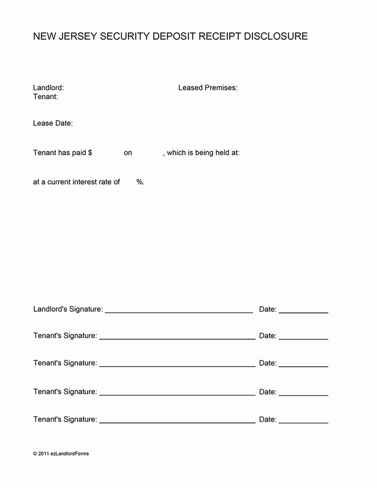 Security Deposit Receipt Templates Fresh Templates and Samples