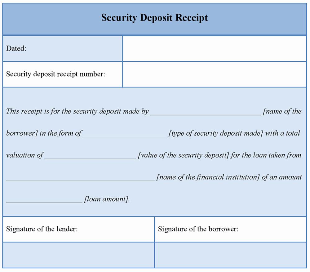 Security Deposit Receipt Templates Inspirational Download Printable Security Deposit Receipt Template Word