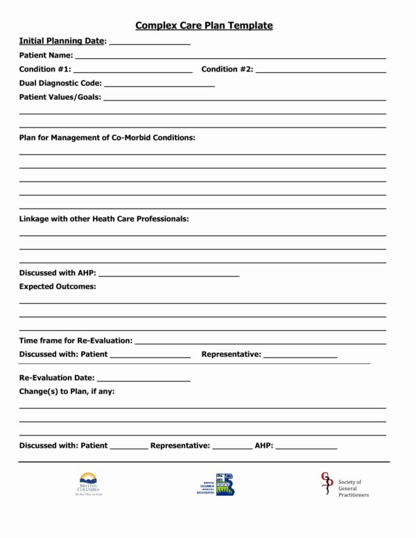 Self Care Plan Template Beautiful 15 Patient Care Plan Template – Pdf Word