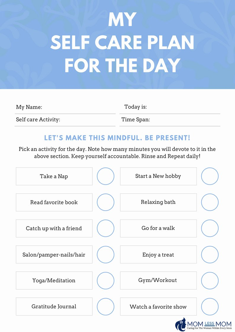 Self Care Plan Template Beautiful Create A Self Care Routine with A Self Care Planner