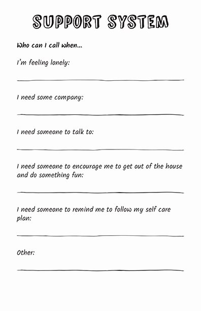 Self Care Plan Template Best Of Self Care Zine the Self Care Journal is 100 Pages Of