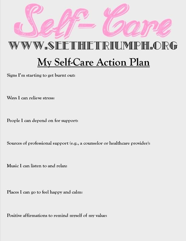 "Self Care Plan Template Fresh Develop A ""self Care Action Plan"" to Make Caring for"