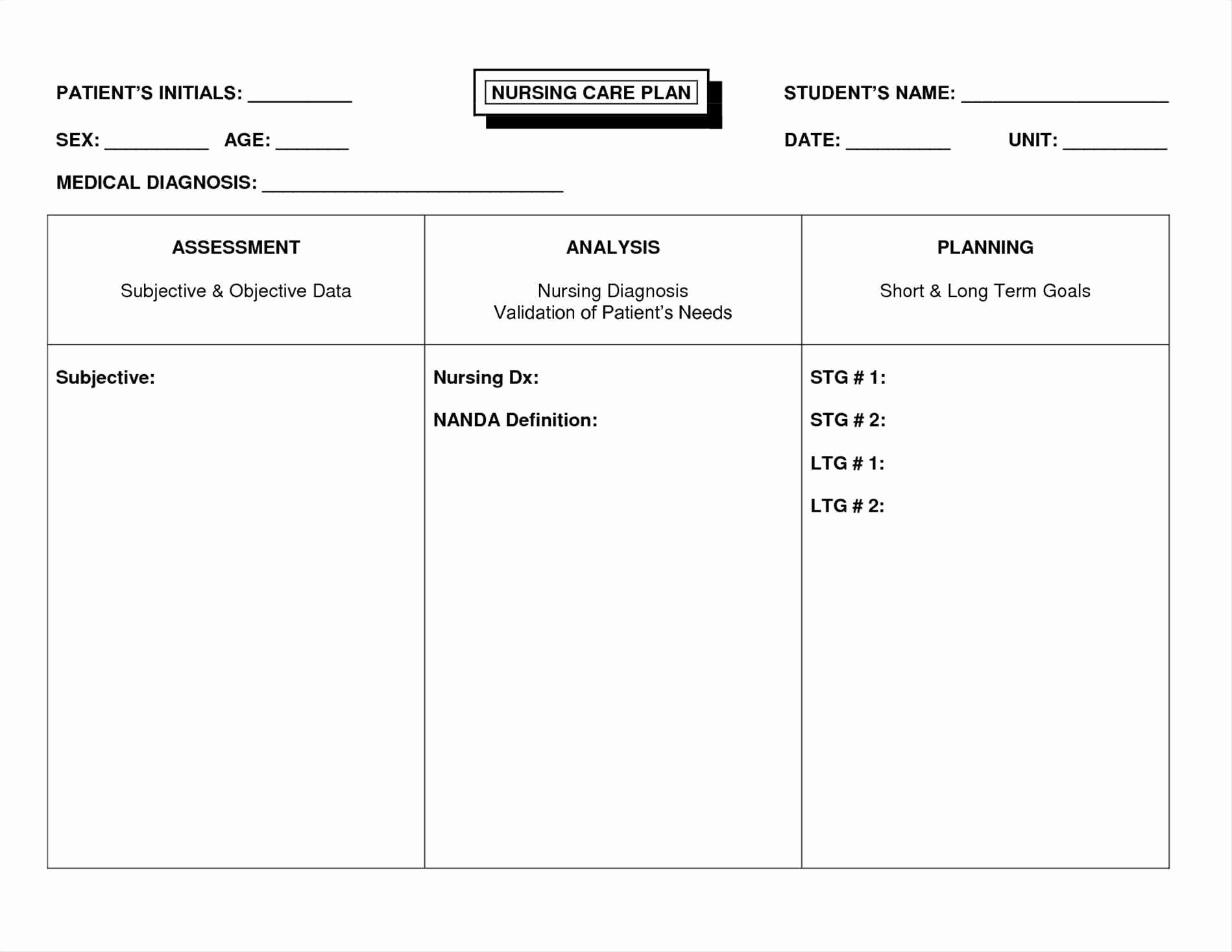 Self Care Plan Template Inspirational Free Nursing Care Plan Templates Beepmunk