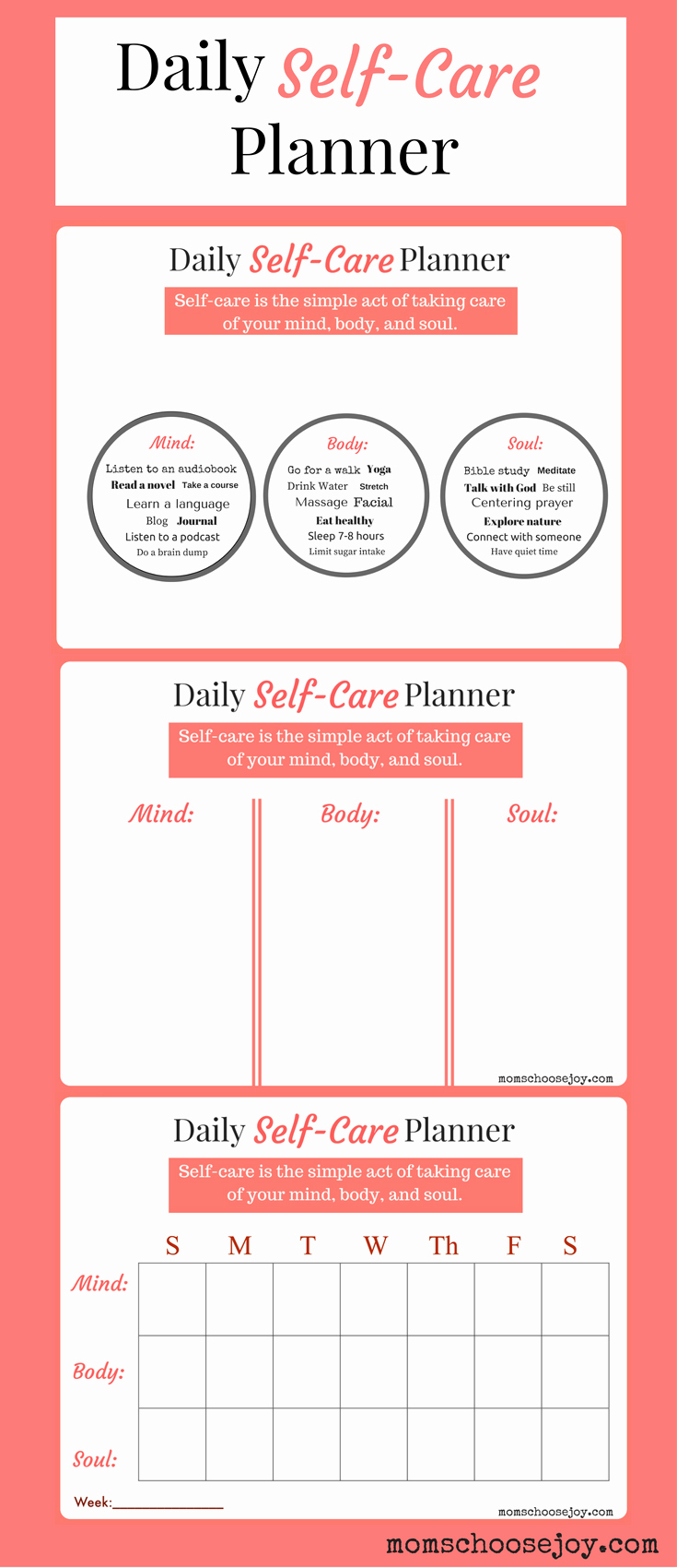 Self Care Plan Template Lovely Do You Prioritize Self Care A Daily Self Care Planner