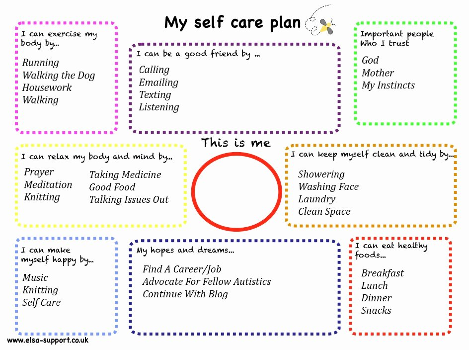 Self Care Plan Template Unique Planning Self Care Part 2 – Cambria S Big Fat Autistic Blog