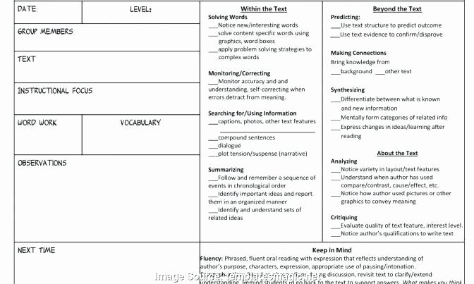 Shared Reading Lesson Plan Template Awesome Guided Reading Lesson Plan Template 3rd Grade – Unusual