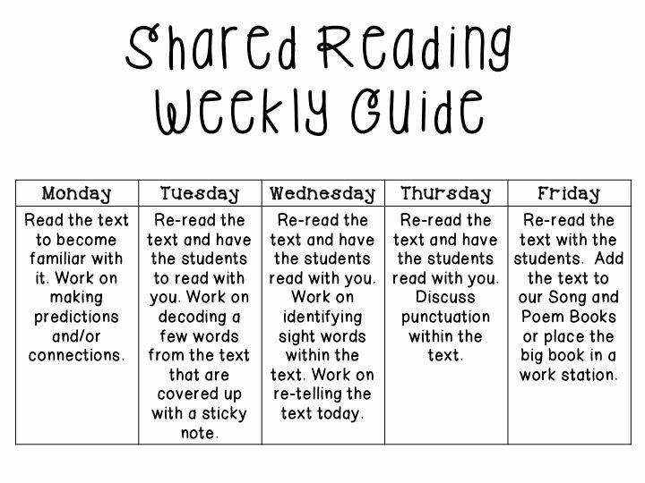 Shared Reading Lesson Plan Template Fresh 17 Best D Reading Images On Pinterest