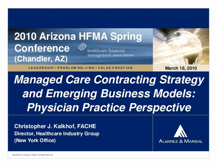 Shared Well Agreement Arizona Fresh Managed Care Contracting Strategy
