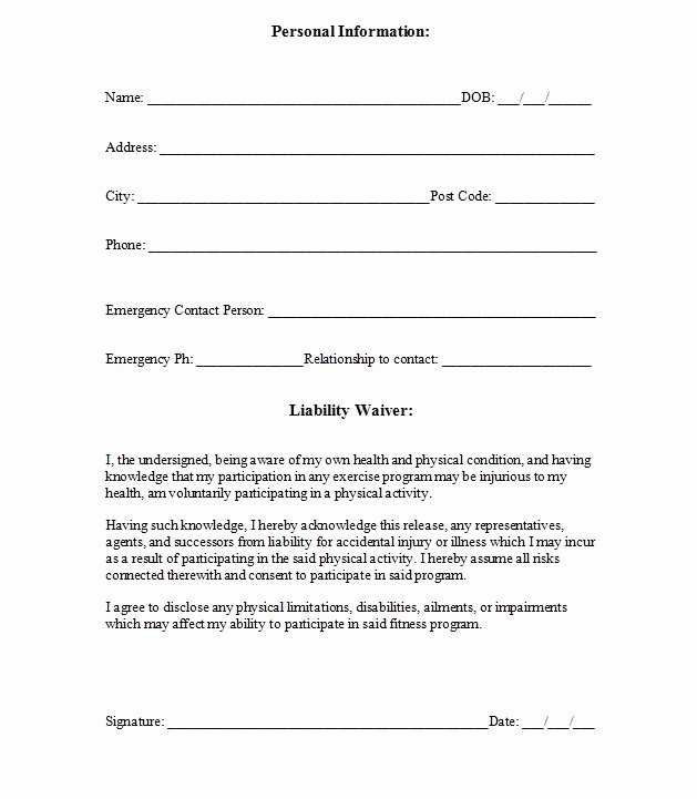 Shared Well Agreement Arizona Inspirational Free Printable Release and Waiver Liability Agreement