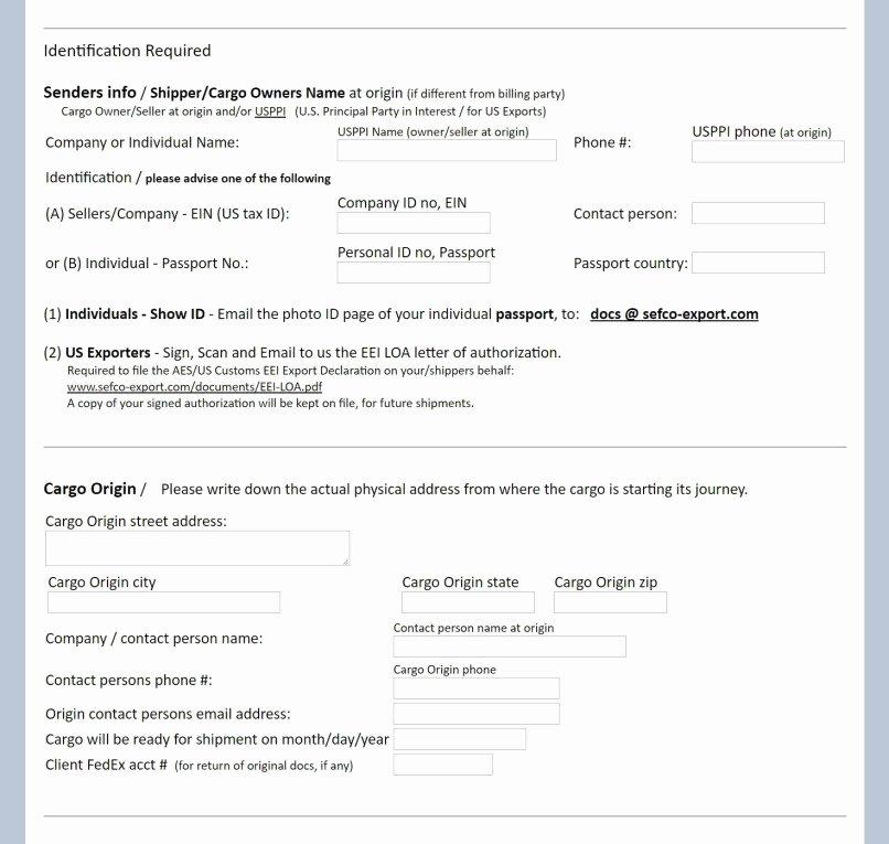 Shipper Letter Of Instruction format Elegant Shipper Letter Instruction Excel format Dhl