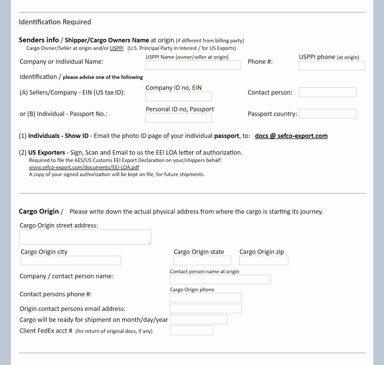 Shipper Letter Of Instruction format Unique U S Shipper Letter Instructions