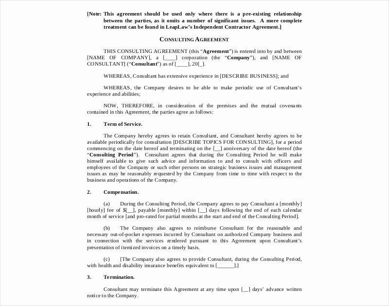 Short form Consulting Agreement Beautiful 16 Consulting Agreement Examples Pdf Doc