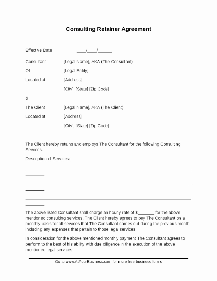 Short form Consulting Agreement Best Of Simple Consulting Agreement