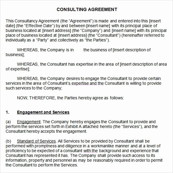Short form Consulting Agreement Elegant Consulting Agreement 9 Free Samples Examples format