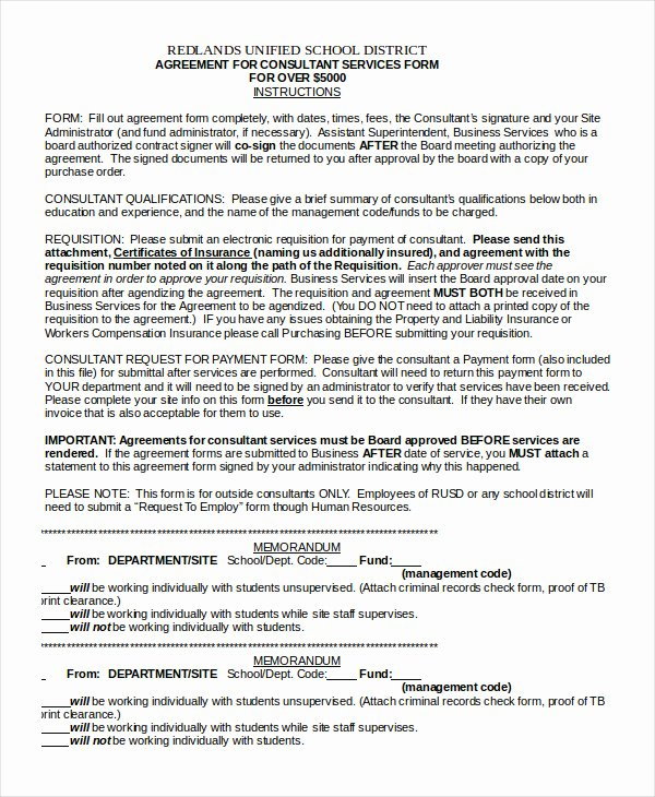 Short form Consulting Agreement Fresh 17 Consulting Agreement Templates Word Docs