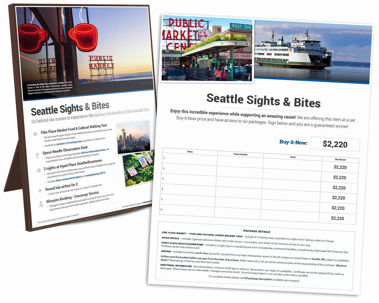 Silent Auction Item Description Template Luxury Introducing the New Winspire Silent Auction Travel Package
