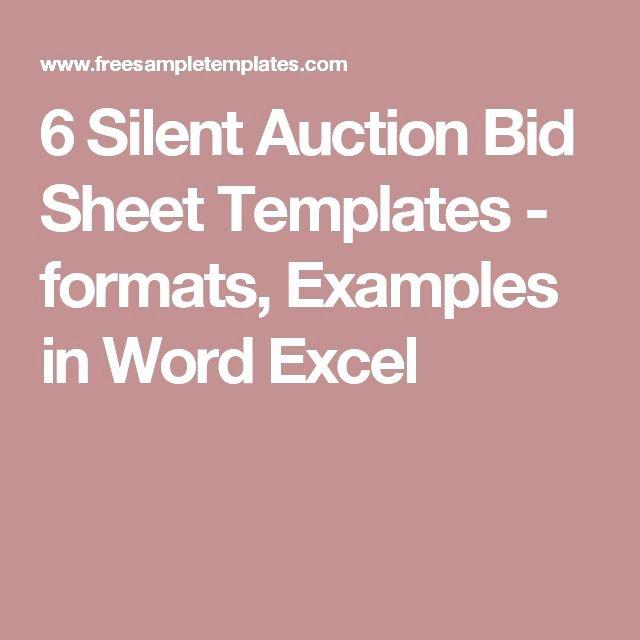 Silent Auction Item Description Template Unique Best 25 Auction Bid Ideas On Pinterest