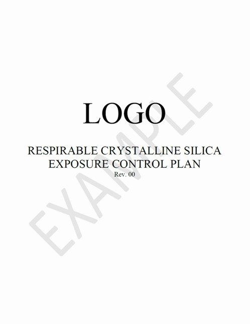 Silica Exposure Control Plan Template Luxury Silica Exposure Control Plan Template Diy
