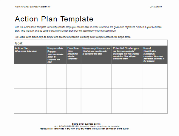 Simple Action Plan Template Awesome 31 Action Plan Templates Free Excel Word Examples Samples