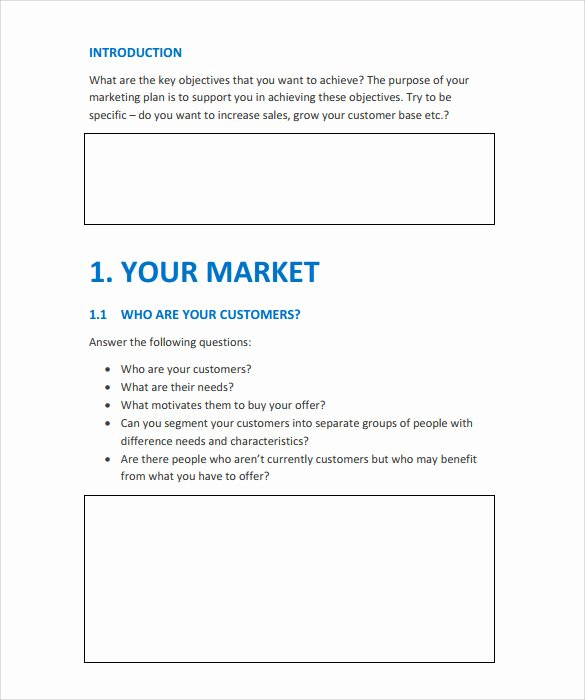 Simple Action Plan Template Beautiful 15 Marketing Action Plan Templates to Download for Free