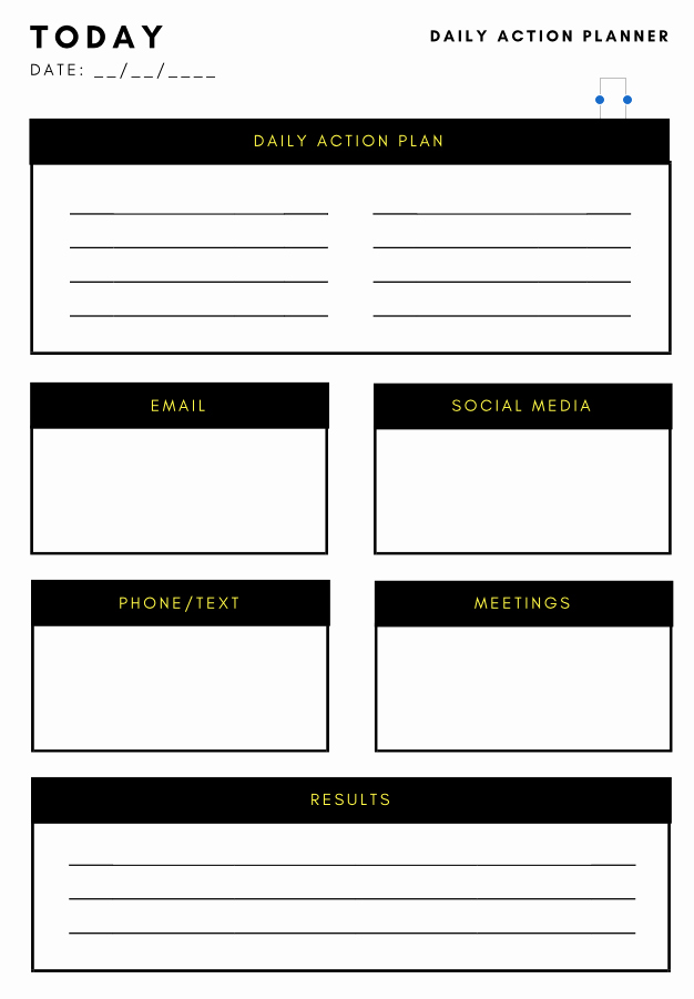 Simple Action Plan Template Beautiful Action Plan Template Productivity