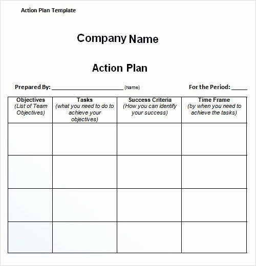 Simple Action Plan Template Fresh 27 Plan Templates