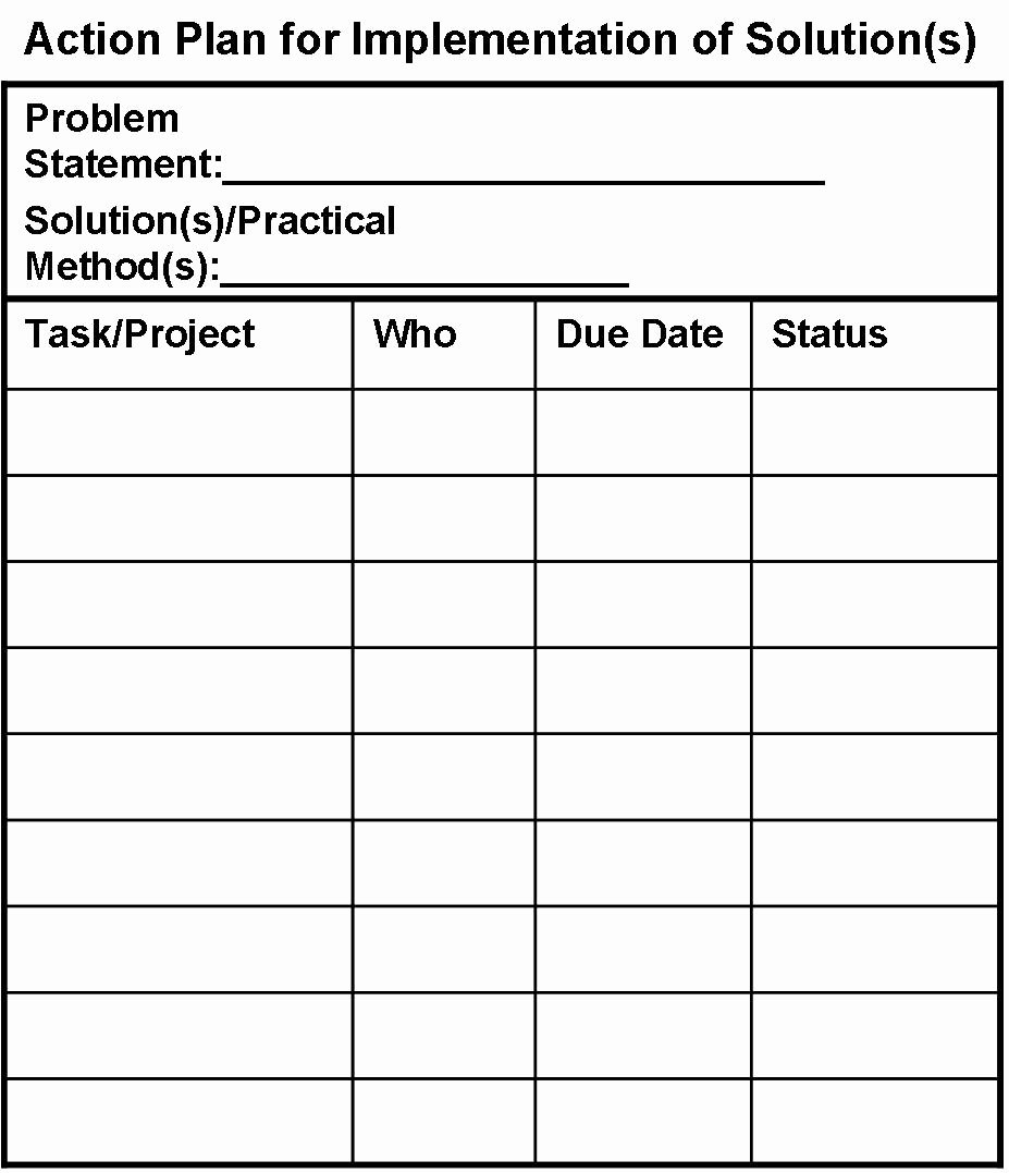 Simple Action Plan Template Inspirational Action Plan Template for Dmaic Projects