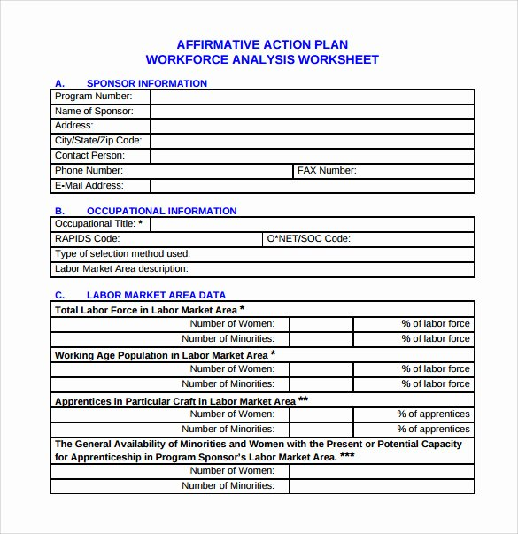 Simple Action Plan Template Lovely 9 Sammple Affirmative Action Plan Templates