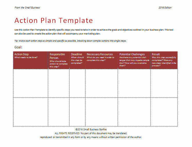 Simple Action Plan Template Lovely Action Plan Template An Easy Way to Plan Actions