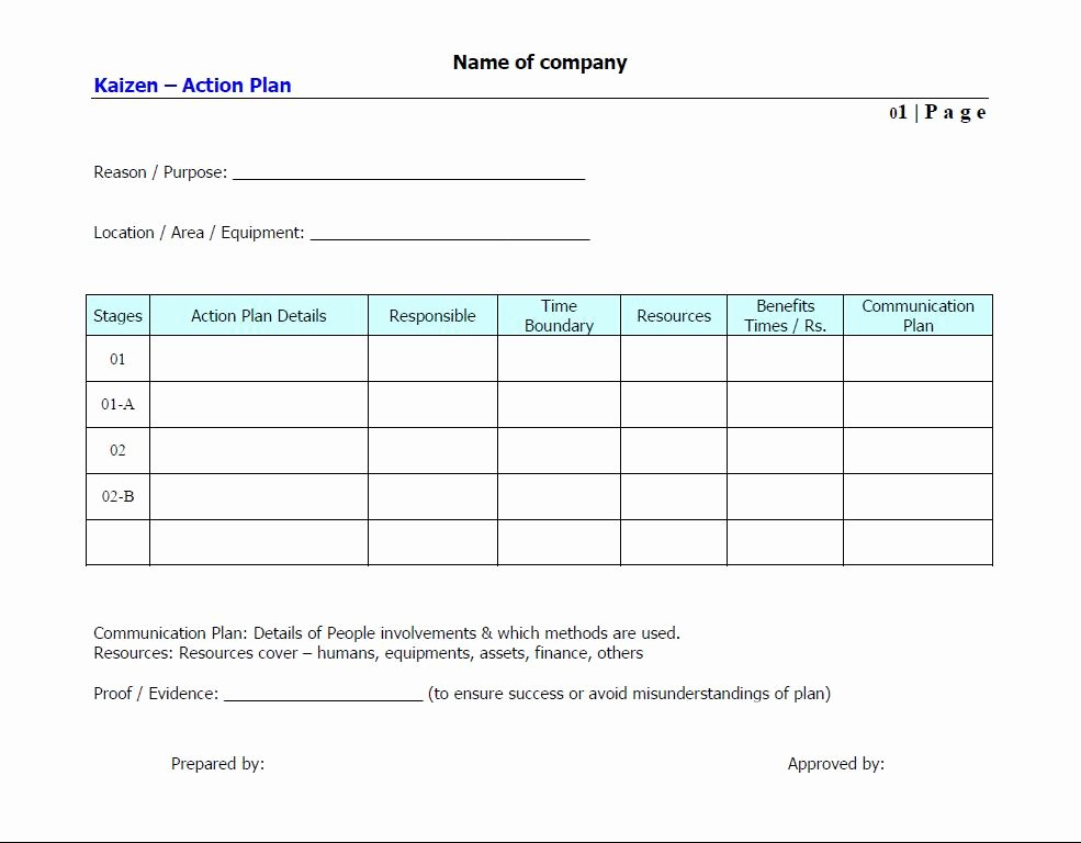Simple Action Plan Template Luxury Stunning General Action Plan Template Word Examples Thogati