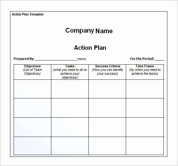 Simple Action Plan Template New Free Download Simple Action Plan Template Example for