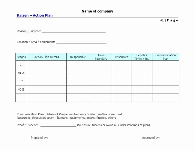 Simple Action Plan Template New Simple Template Sample for Action Plan with Purpose and