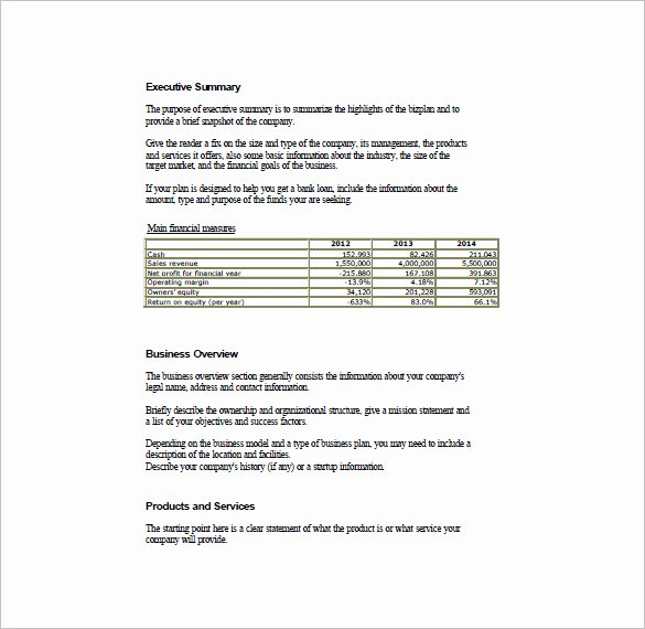 Simple Business Continuity Plan Template New Simple Business Plan Template – 14 Free Word Excel Pdf