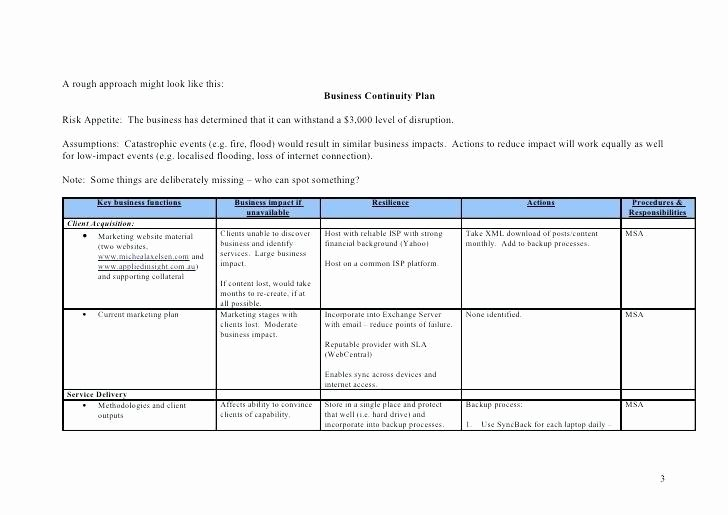 Simple Business Continuity Plan Template New Simple Checklist Template