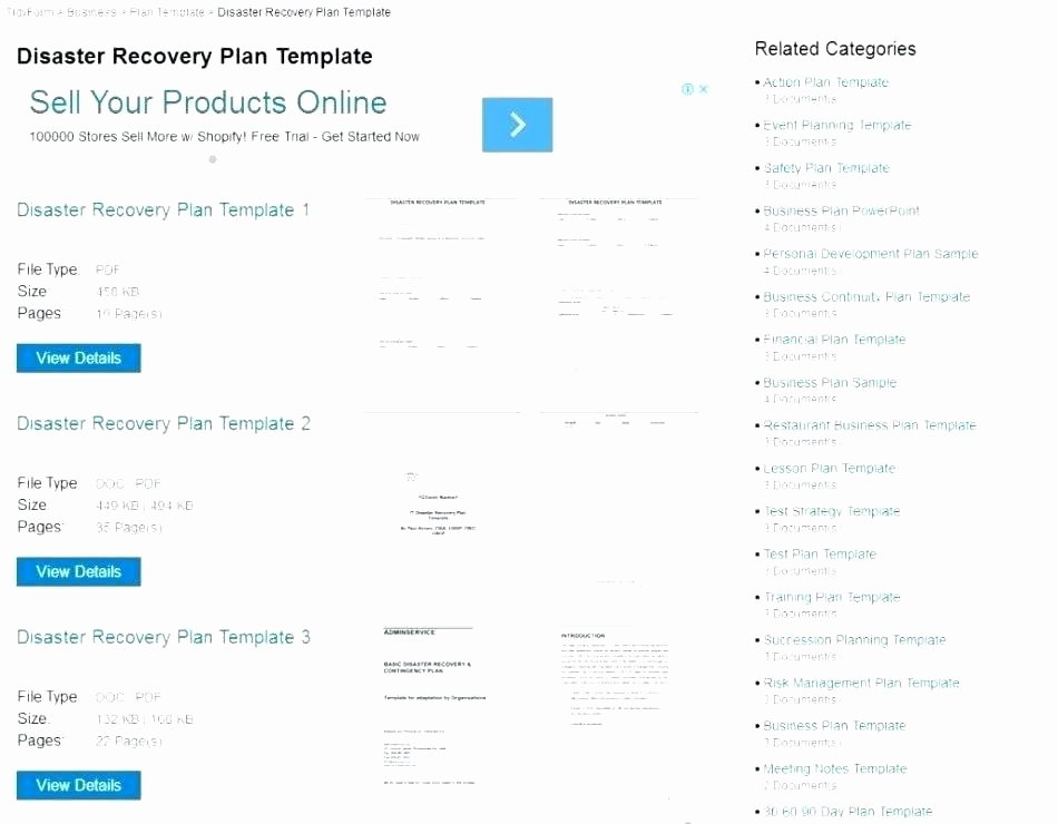 Simple Business Continuity Plan Template Unique Simple Disaster Recovery Plan Template – Tefutefufo