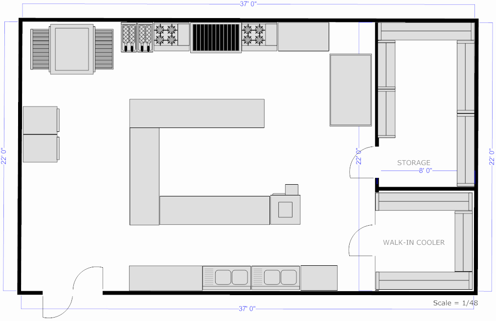 Simple Cafeteria Plan Template Awesome Foundation Dezin & Decor Professional Kitchen Layout