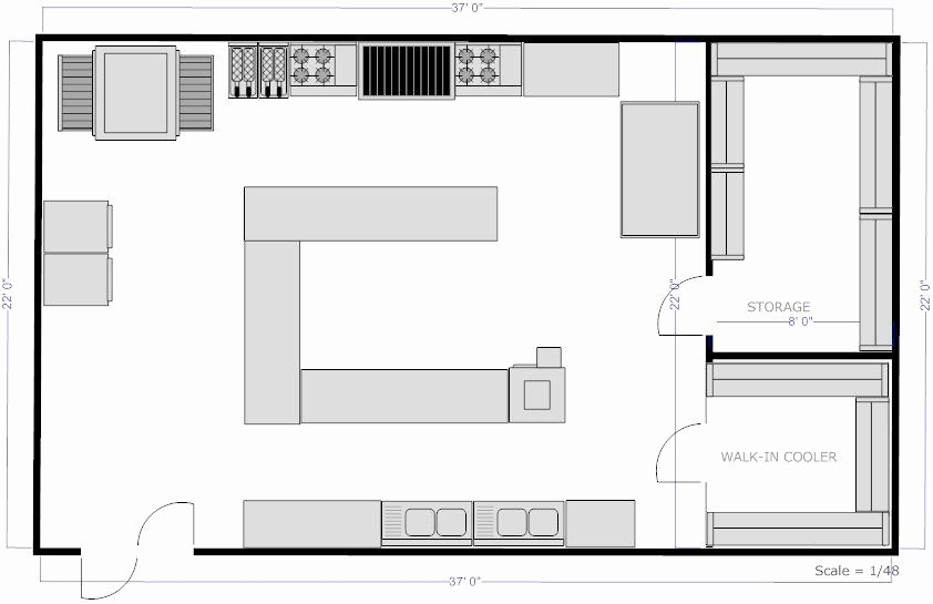Simple Cafeteria Plan Template Best Of Planning A New Kitchen Kitchen Layout Ideas