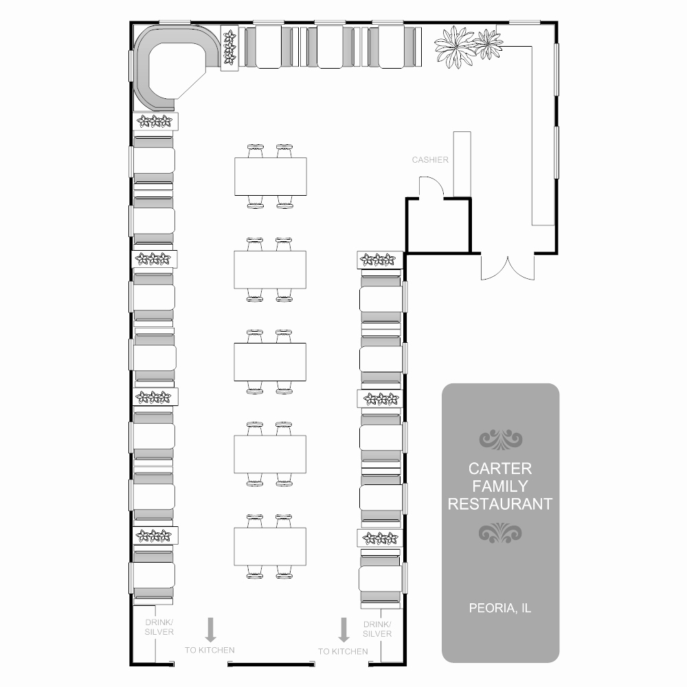 Simple Cafeteria Plan Template Luxury Restaurant Floor Plan