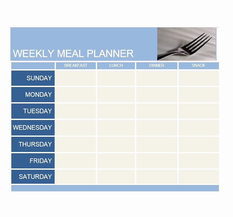 Simple Cafeteria Plan Template Unique Meal Plan Template 22 Template Lab
