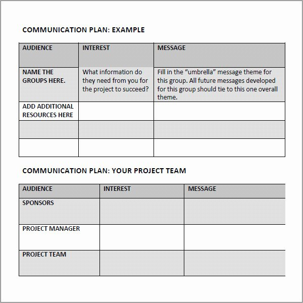 Simple Communication Plan Template Awesome 9 Munication Plan Template