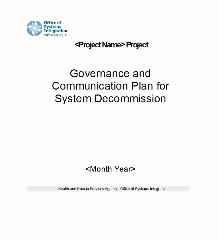 Simple Communication Plan Template Beautiful 37 Simple Munication Plan Examples Free Templates