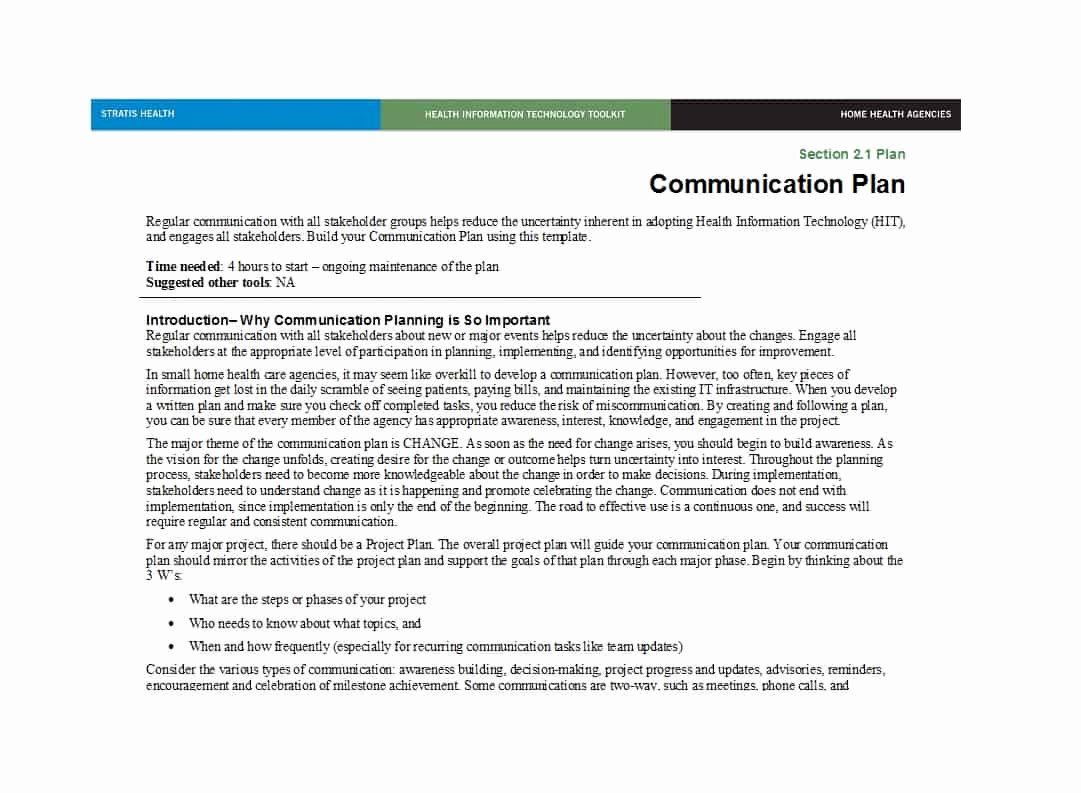 Simple Communication Plan Template Elegant 37 Simple Munication Plan Examples Free Templates