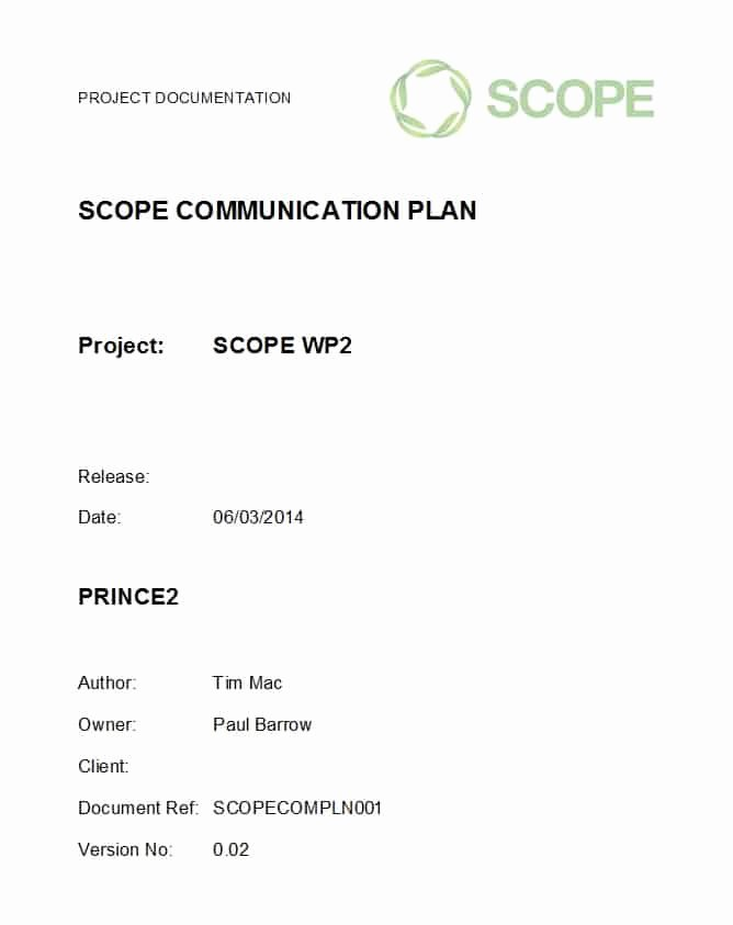 Simple Communication Plan Template Fresh 37 Simple Munication Plan Examples Free Templates